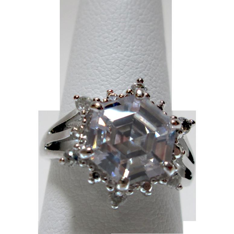 CZ Snowflake Ring