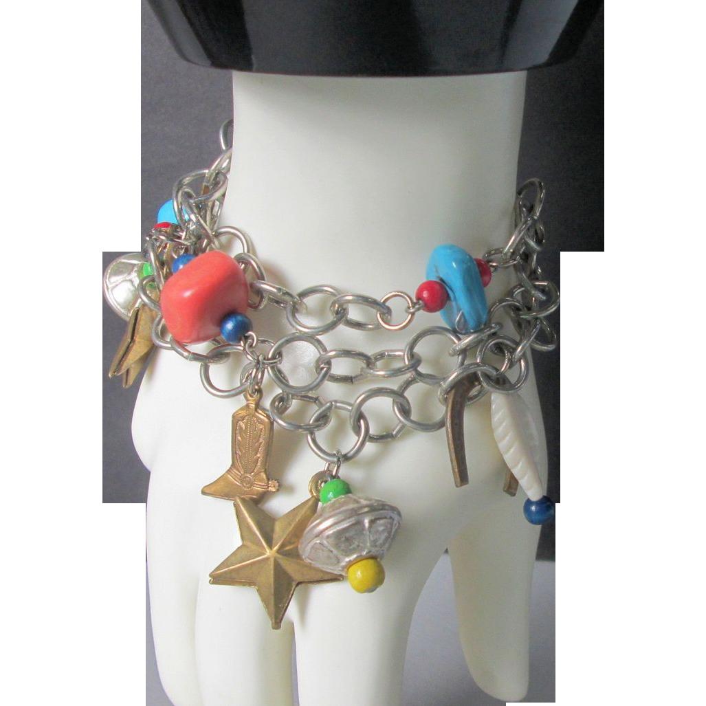 Western Themed Charm Bracelet
