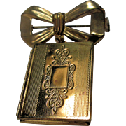 Book Locket & Bow Pin/Brooch