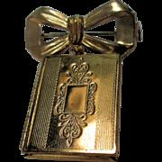 Book Locket & Bow Pin/Brooch