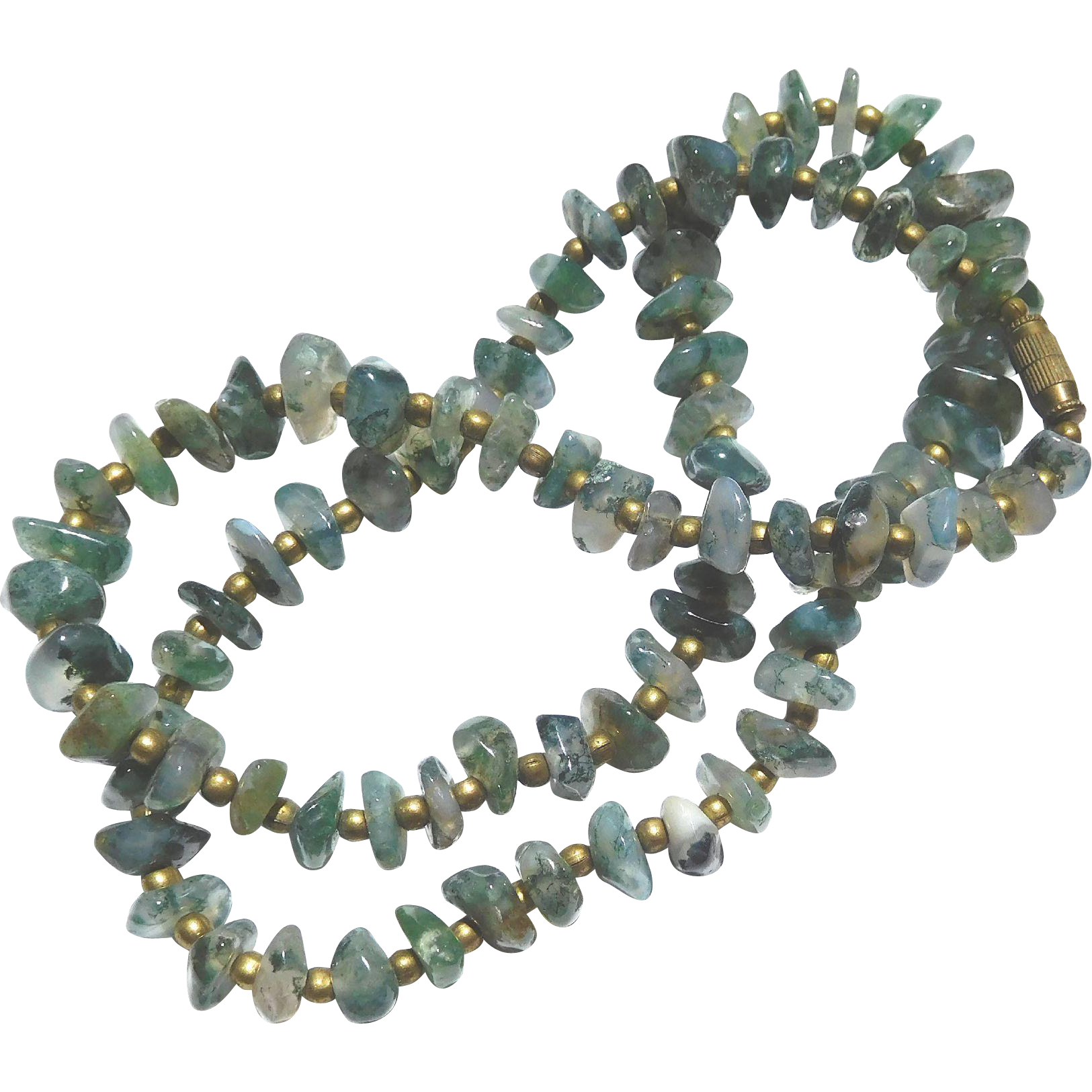 Olive Green Translucent Quartz Necklace
