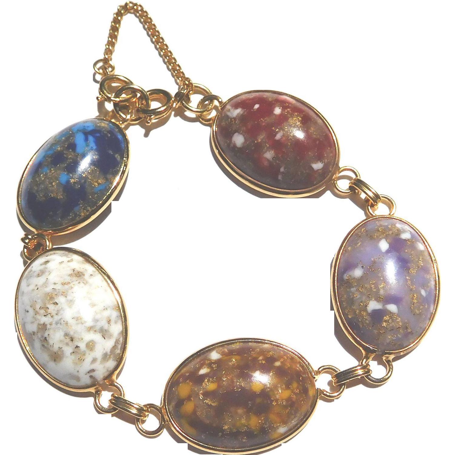 Chunky Multi-Color Cabochon Bracelet