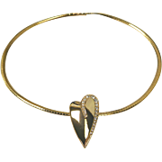 Nolan Miller Pave Accent Heart Slide and Omega Necklace