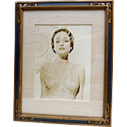 Original Dorothy Lamour Studio Photo in 1930s Frame