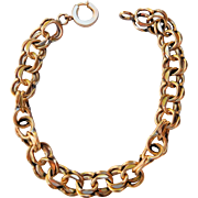 Vintage Fancy Double Curb, Figure-Eight Link Bracelet