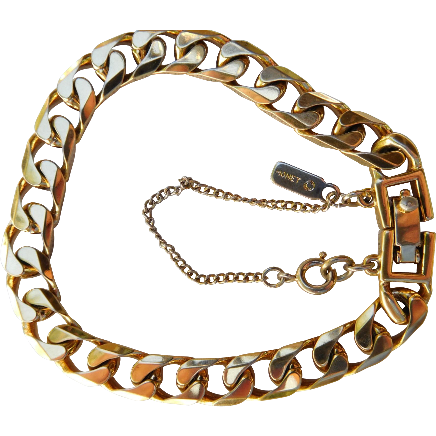 Monet Curb Link Bracelet with Safety Chain