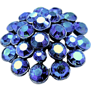 Peacock Blue AB Rhinestone Pin/Brooch