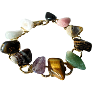 Multi-Stone Bracelet: Natural Semi-Precious Stones