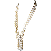 Large Link Gold- and Silver-tone Necklace – Long