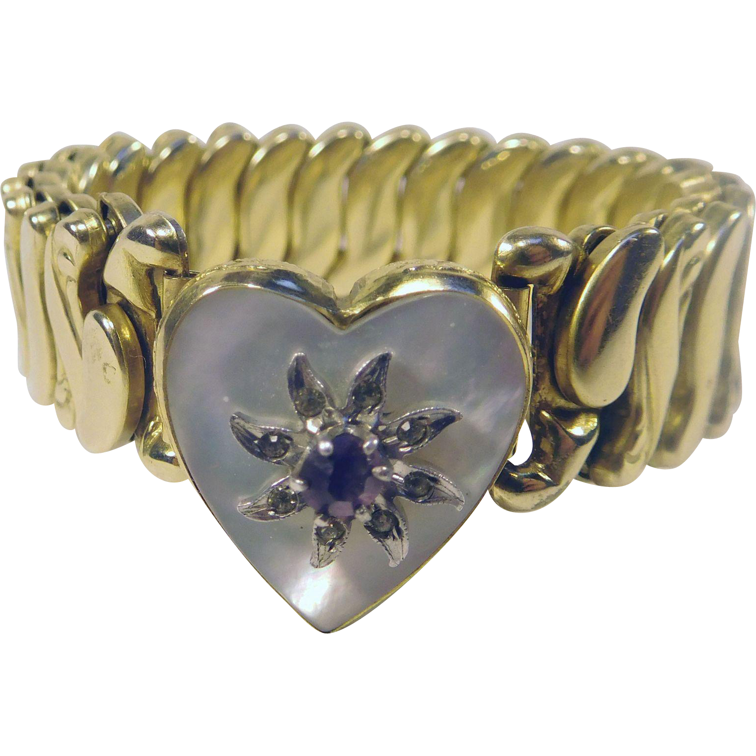 bugbee niles gold filled sweetheart bracelet with mother