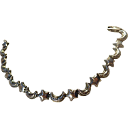 Sterling Moon & Star Bracelet
