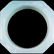Octagonal Mint Green Lucite Bracelet