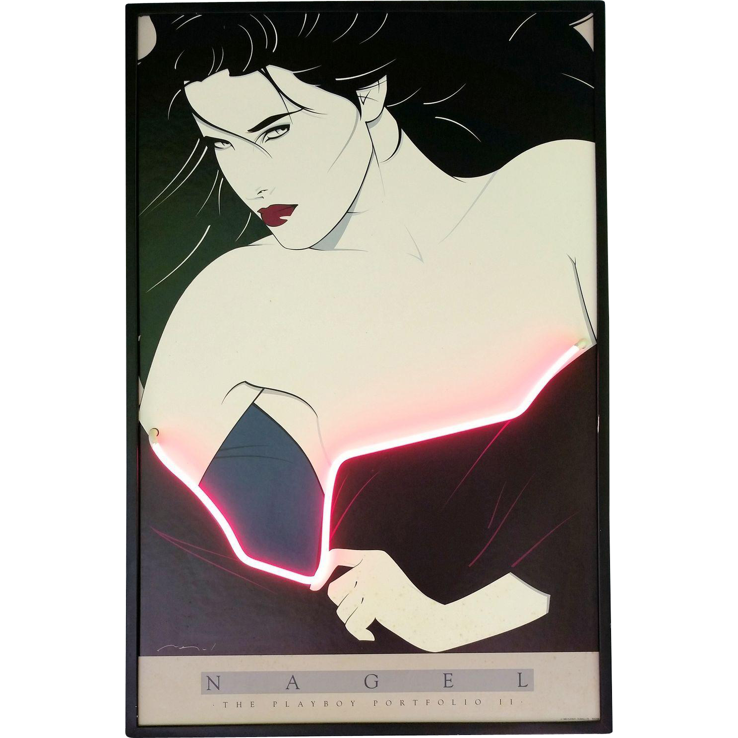 Nagel Playboy Portfolio II Poster with Neon Light Accent