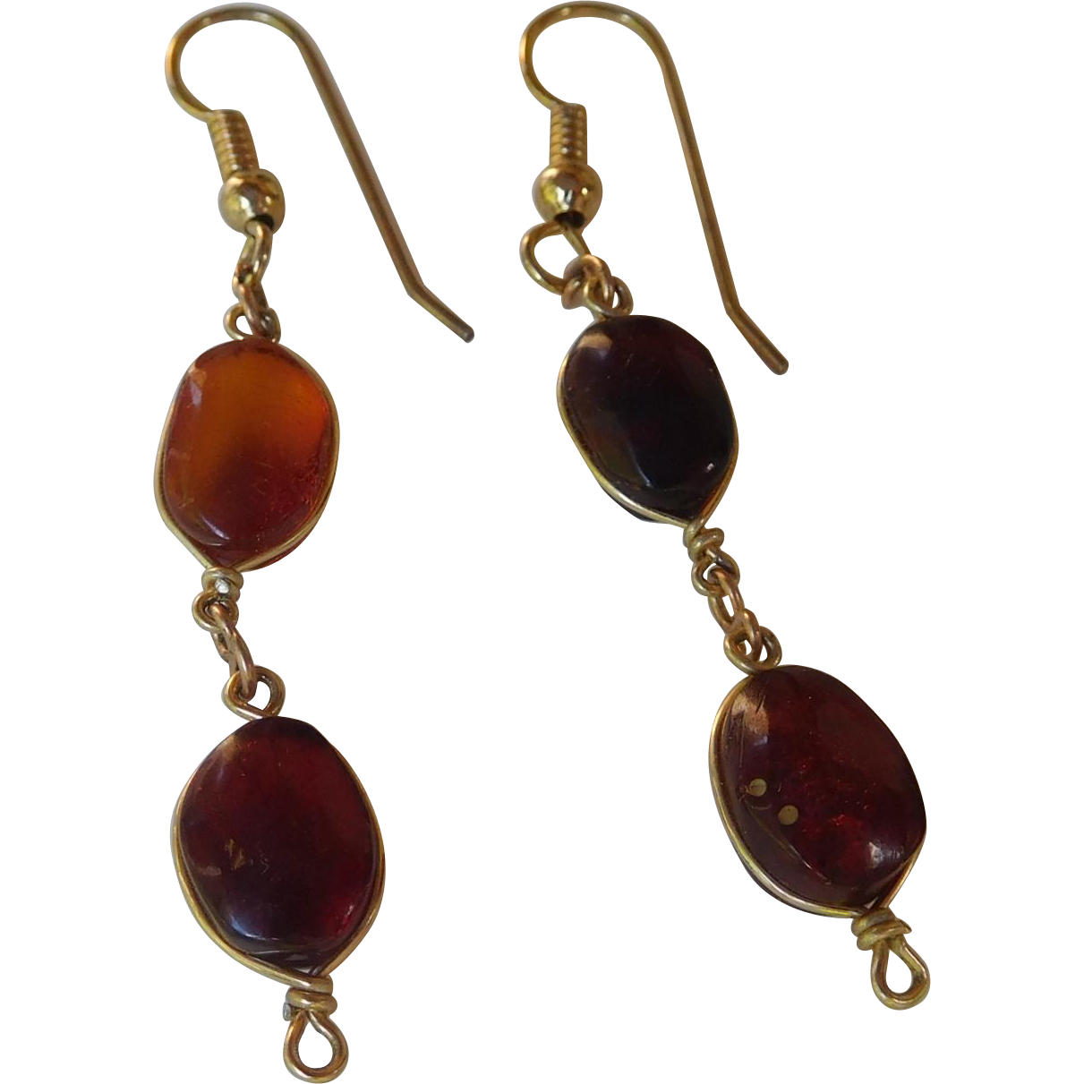 Pretty Amber Drop Earrings