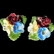 Bone China Floral Earrings