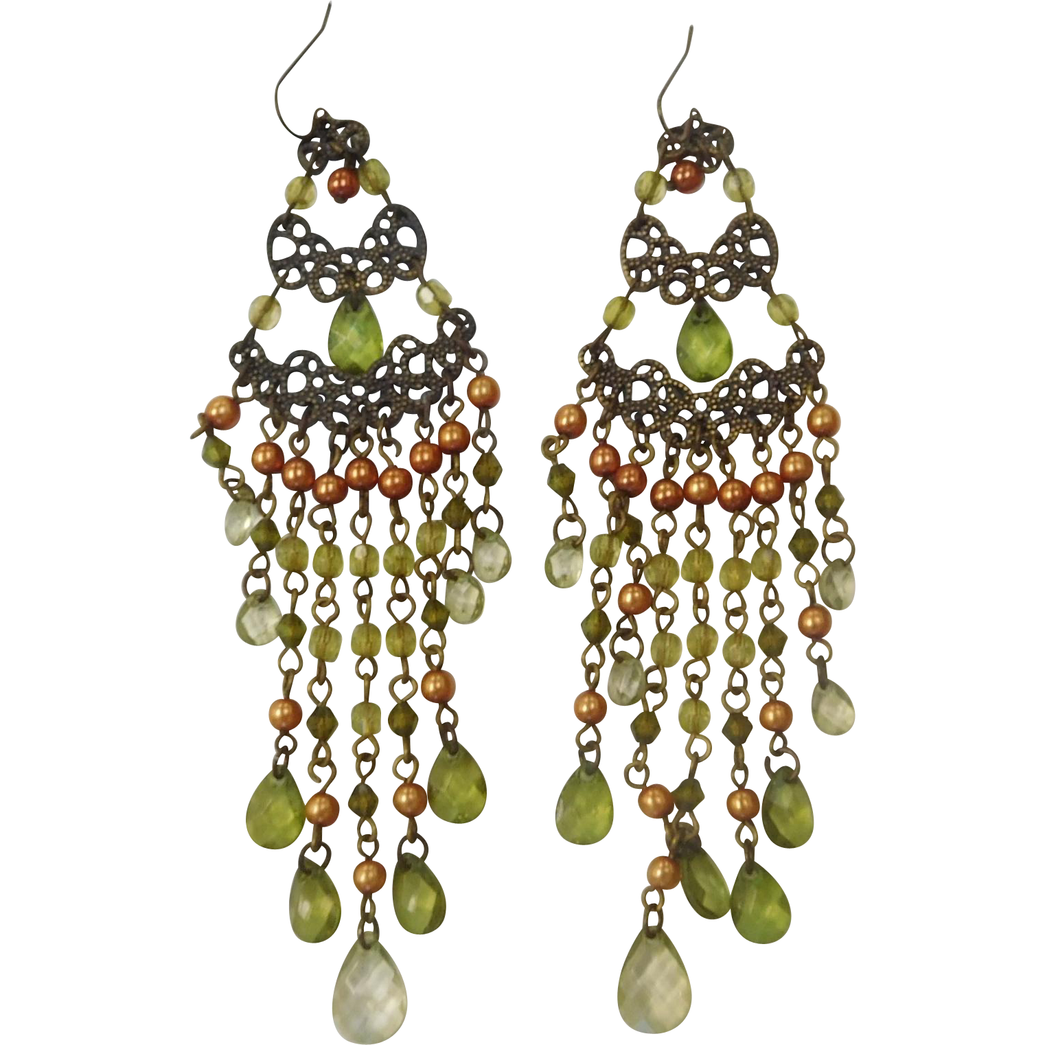 Long Boho Chandelier Shoulder-Duster Earrings