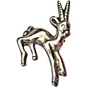 Sterling Silver Gazelle Pin/Brooch, Mexico