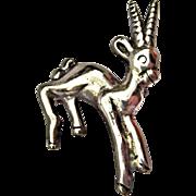 Sterling Silver Gazelle Pin/Brooch, Mexico