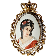 Florenza Hand-Painted Limoges Pendant