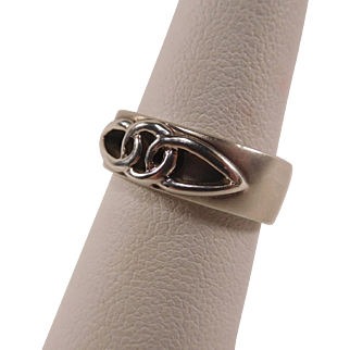 Satin Finish Sterling Celtic Knot Ring