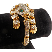 Rhinestone Panther Bracelet