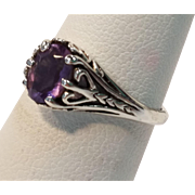 Kabana Sterling Ring with Amethyst