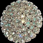 Dazzling Round Domed Rhinestone Brooch