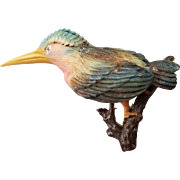Celluloid Kingfisher or Hummingbird Pin