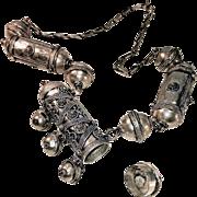 Handmade Yemenite Silver Necklace with Prayer Box Bead - Red Tag Sale Item