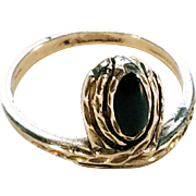 Sterling and Black Onyx Native American Ring