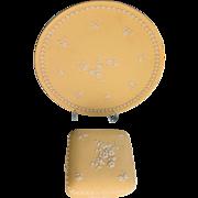 Wedgwood Primrose Yellow Trinket Box and Plate Jasperware