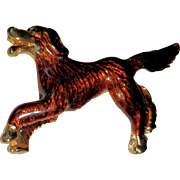 Enameled Irish Setter Brooch/Pin