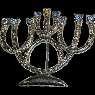Mid-Century Menorah Brooch/Pin