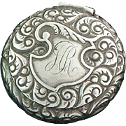 Victorian Pill Box Sterling Silver S. Cottle Co., NY