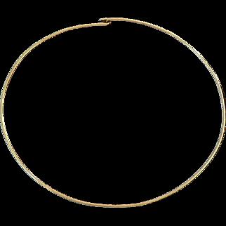 14K Gold Omega Chain Collar