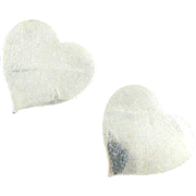 Hans Hansen Heart Earrings Sterling Silver