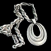 Reveriano Castillo Sterling Silver Mexican Pendant Necklace