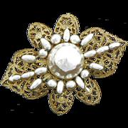 Miriam Haskell Baroque Pearl Brooch