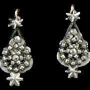 Victorian Steel Pendulum Earrings with Stars