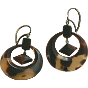 Victorian Tortoise Shell Hoop Earrings