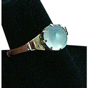 Moonstone Ring 9 Carat Gold by Albion London