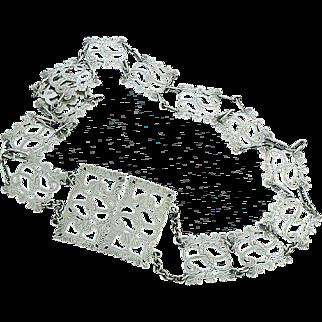 Nurses Belt Sterling Silver Full English Hallmarks Art Deco