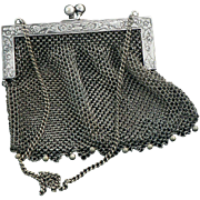 Victorian German Silver Mesh Purse