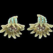 Marcel Boucher Fuchsia Earrings