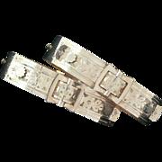 Wedding Bracelets Gold Filled Pair Victorian Buckles Signed Adjustable