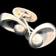 Sterling Silver Modern Denmark Cufflinks Neils Erik From