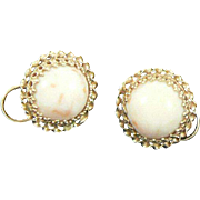Coral 14K Gold Earrings