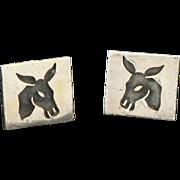 Antonio Pineda Donkey or Burro Cufflinks 970 Silver
