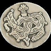 Spratling Dragon Brooch Sterling Silver