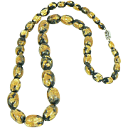 Venetian Gold Foiled Glass Bead Necklace
